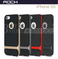 Wholesale Neo Hybrid Bumper Iphone 5s - For iPhone6 Rock Neo Hybrid Hard Bumper Back Cover Case For Cell phone iPhone 6 Plus 6+ 5 5s note 4