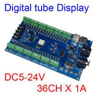 Wholesale Dmx512 Rgb Controller - 36CH dmx512 Controller,Digital tube display decoder,36 channel 13groups RGB output,DC5V-24V for LED strip light, RGB dump node,LED module