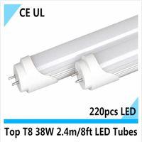 Wholesale T8 38w Lamp - Top quality UL CE t8 2400mm Tube t8 8ft led lighting led light Bulb Lamp cool white 2.4m led fluorscent tube 38W 12pcs lot DHL UPS EMS