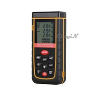 Wholesale-Digital Backlight Écran LCD 80M 262FT Laser Distance Meter Range Finder Zone / Volume Measure Tape Lazer Rangefinder CJY09-P2224
