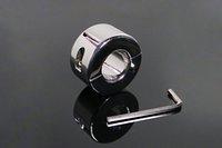 bilyeli germe cihazları toptan satış-Paslanmaz Çelik Lehçe Topu Sedye Skrotum kolye Testis Streç TCMB Cihazı Horoz Halka Fetiş Gecikme CBT Seks Oyuncak