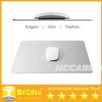 Wholesale Aluminium Cooling Pad - 2015 New Design Aluminium Mouse Pads Metal Surface Alloy Double-face Mouse Mat Simplicity Cool Slimer Compatiable With Macbook DHL Freeship