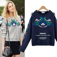 Wholesale Women Winter Coat Manufacturers - European and American manufacturers selling 2015 new large size women winter sweater coat printing MM long sleeved loose fat women