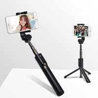 iphone штатив оптовых-Складная штатив Selfie Stick Bluetooth Selfiestick с беспроводным затвором Selfie Stick для iPhone Android Бесплатная доставка