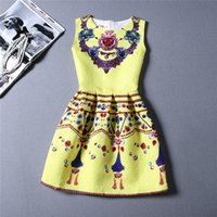 Wholesale Cheap China Girls Dresses - 3 Style Choice Girls Best Sale 2015 Summer Dresses Cheap Clothes China Beach Bodycon Dress Floral Printing Vest Dress Lady Dresses