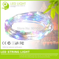 Wholesale Low Voltage Wire Wholesale - Wholesale-Free Shipping 33Ft Water Drop shaped LED String Low Voltage 12V Ultra-thin wire Festoon Light String at 5%OFF(2 lots or more)