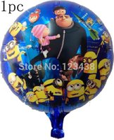 Wholesale Despicable Minion Stuart - Wholesale-1pc Cartoon Aluminum Classic Toy Birthday Decoration Minion Steve Stuart Foil Balloon Despicable Me for Wedding Party Supplies