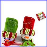 Wholesale Christmas Ornaments Light Colors - Lighting Snowman Candy Bag 7 Colors For Christmas Tree Pendant 500pcs Lot Free Shipping