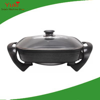 olla eléctrica al por mayor-110 v wok eléctrico multi-función de olla de cocina eléctrica cocina hogar olla eléctrica sartén antiadherente caliente
