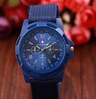 banda de nylon del reloj del ejército al por mayor-Luxury Army Watches Gemius Army Watch Racing Force Deporte Militar Para Hombres Oficial Banda de Nylon Knight Watch Army Reloj deportivo al aire libre