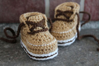 padrões de sapato de bebê crochê venda por atacado-2015 Moda Handmade Crochet bebê primeiro andar sapatos de Crochê Padrão PDF Bebê Meninos Botas
