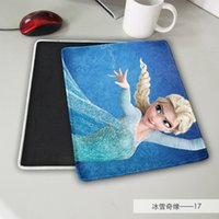Wholesale Cartoon Rubber Mouse Pad - 2015 Hot Cartoon Frozen princess mouse pad mouse mat 20pcs lot free ship