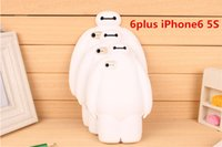 Wholesale Iphone 3d Big Case - 3D Cartoon Big Hero 6 Baymax Soft Silicone Phone Case For iPhone 5 5s iphone 6s 6 Plus Baymax Case