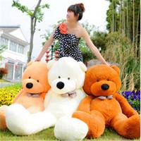 Wholesale Stuffed Animals Wedding Bears - Wholesale-Lovely DIY Plush Toy 60cm Pure Cotton Cartoon Toy Teddy Bear Toys & Hobbies Doll Stuffed & Plush Animal Birthday Wedding