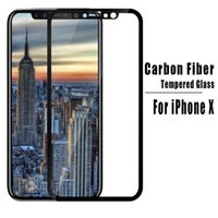 Wholesale Cover Iphone Film 3d - For iPhone X Carbon Fiber Soft Edge Temped Glass Screen Protector Full Cover Film For iPhone 6 7 8 Plus Samsung S7 J5 J7 Prime A3 A5 2017