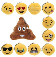 Wholesale Amuse Plush - Fashion Hot Cute Emoji Smiley Emoticon Amusing Key Chain Soft Toy Gift Pendant Bag Accessory