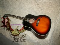 Wholesale Acoustic Left Handed - Wholesale 2015 Honey Burst J160E Acoustic Guitar From China Free Shipping