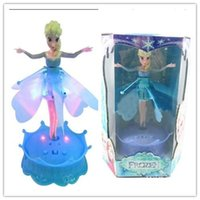 Wholesale 2017 Frozen Flying Doll quot Let It Go quot Sing With Light Induction Flying Fairy Toys