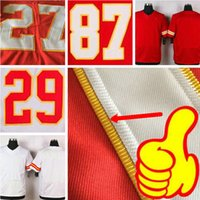 Cosido Eric Berry Jersey 27 Kareem Hunt 87 Travis Kelce 10 Tyreek Hill 11 <b>Alex Smith</b> Personalizado Any Red White Man Women Youth