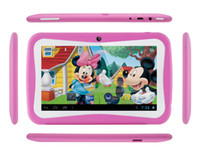 Wholesale Hot K711 RK3126 dual core quot TFT LCD MB GB Capacity Android kids tablet pc with Wifi and Daul Camera