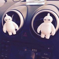 Wholesale Air Conditioning Vent Accessories - Big Hero 6 Baymax Car Vent Accessories Interior Decoration Creative Air Conditioning Outlet Accessories Dolls Promotion Gift 10pcs lot SK373