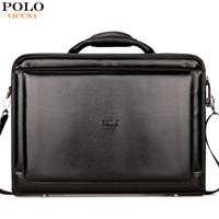 Wholesale Laptop Lock Key - VICUNA POLO Classic Large Size Mens Briefcase With Calculator Luxury Brand Password Lock Open Men maleta Men Black Laptop Bag