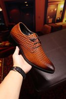 Wholesale Party France Dress - First Luxury France Classic Brand Man Dress Aristocracy Shoes The Best Leather Shoe Black Brown Gentleman Work Shoes Original Quality