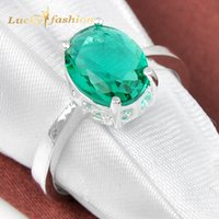 Wholesale Prasiolite Jewelry - Wholesale-Promotion Jewelry Oval Green Amethyst Prasiolite 925 Sterling Silver Wedding Rings Russia USA Holiday Gift Rings Australia Rings