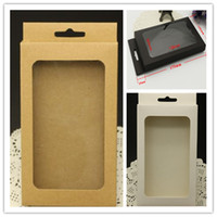 Wholesale Iphone 4s Box Retail Packaging - universal Plain Kraft Brown Paper Retail Package Box boxes for phone case cover iPhone 5 5S 4S 6 PLUS 7 Samsung Galaxy S4 S5 S6 s7 edge