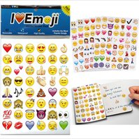 Wholesale Facebook Iphone - DHL Expression Emoji paper Stickers Pack iPhone iPad Android Phone Facebook Twitter Instagram Lovely Cute Facial Expression B001