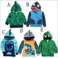 Wholesale Kids Korean Models - Baby Boys Girls Clothes Good Quality Korean Terry Zipper Coat Fashion Crocodile Modelling Clothing Hot Autumn Winter Kids Sweatshirts Hoody