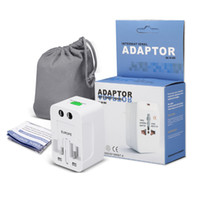 Wholesale international adapters - International Wall Chargers World Wide Travel Adapter AC Power EU US All In One Home Plug With Retail Package