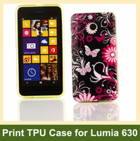 black plastic garden cover - Garden Flower Zebra Pattern Soft TPU Gel Cover Phone Case for Nokia Lumia