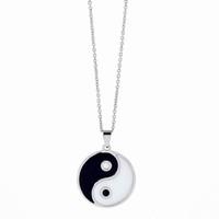 tai chi yin yang anhänger halskette großhandel-Mode Tattoo Tai Chi Halskette Punk lange Kette Yin Yang Symbol Anhänger Halskette für Frauen Männer Schmuck