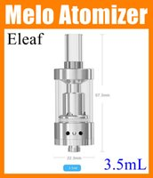 Wholesale E Cig Clearomizers - iSmoka MELO Atomizer Kit 510 Thread 3.5ml Glass Tube 0.5 ohm Melo Airflow Ajustable E Cig Clearomizers ATB162