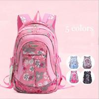 Wholesale School Bags Children Girls - 2016 1PC School Bags For Girls Fashion Flower Waterproof Children Backpacks Mochila Escolar ZZ3198