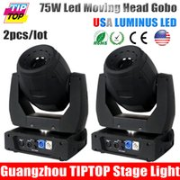Wholesale 75w Moving Head - Wholesale-Freeshipping 2pcs 75W Led Moving Head Spot USA Luminus LED Led Moving Head Light DMX512,170W Martin Led Moving Head Beam effect