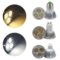 Led bulds CREE a conduit les lumières de lampe 9W 12W 15W Dimmable E27 GU10 MR16 E14 B22 GU5.3 B22