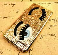 Wholesale I Phone 3d Cover - 3D phone cases Hard Cover Case Pretty Bling Cover For iphone 5 5S  6  6 plus Flirting Eyes Brilliant i phone cases 3D