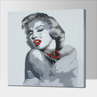 Wholesale Sexy Paint Handmade - Handmade Modern Abstract Decorative The sexy Red Lip Woman Oil Painting On Canvas Wall Art For Living Room As Unique Gift