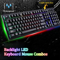 G20 Backlight LED Pro Gaming Teclado Mouse Combos USB Wired Powered Gamer Keyboard Com 2000 DPI Mouse para computador LOL Game Free shipping
