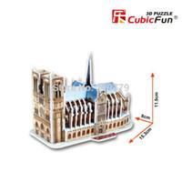 Wholesale Wholesale Cubic Fun - Wholesale-10pcs lot Cubic Fun Mini Paper Model 3D Puzzle Titanic Eiffel Double Decker Bus Big Ben Sydney Opera House Chrysler Buiding