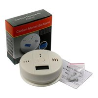 Wholesale smoke carbon detectors online - Carbon Monoxide Detector Home Security LCD Display CO Detector Poisoning Sensor Monitor Gas Fire Warning Alarm Detector Good Quality