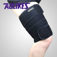 Wholesale Thigh Supports Wholesale - 1PCS Sport Thigh Guard Muscle Strain Protector Muslo Pads Support Fitness Leggings Leg Compression Sports Safety