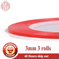 Wholesale Sticky Surfaces - Wholesale-3x (0.2mm Thick) 3mm *25M Strong Sticky PET Acrylic Clear Double Sided Tape for Screen, Panel, Lens, Camera Cover Uneven Surface