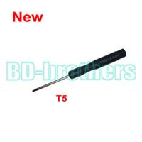 Wholesale new notebook phones resale online - New Arrived Black T5 Screwdriver Torx Screw Drivers Key Open Tool for Moto Phone Notebook Hard drive Circuit Board Repairing