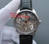 Wholesale Mechanical Skeleton Watch Movement - Luxury Top Quality Watch 43mm x12mm T070.405.16.411.00 Skeleton Transparent Swiss ETA 6497 Movement Mechanical Hand-winding Mens Watches