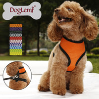 Wholesale Quality Puppy - Free shipping!!!! 10 Colors 5 Sizes Available High Quality Mesh Dog Harness,Puppy Comfort Harness!!!
