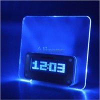 Creative USB LED Licht Fluoreszierende Message Board Wecker Digital Kalender Uhren # 52609 Uhr Radio mp3 Eingang