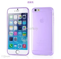 Wholesale Cheap Iphone Cases Free Shipping - Newest lucency Shape Silicone Rubber TPU Gel Case Cover Skin Bag for iPhone 6 Air iPhone6 cheap price Free DHL shipping